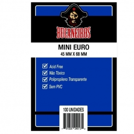 SLEEVES BUCANEIROS MINI EURO 45X68mm C/100