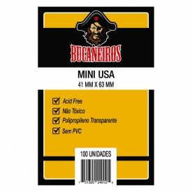 SLEEVES BUCANEIROS MINI USA 41X63mm C/100
