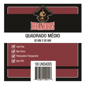SLEEVES BUCANEIROS QUADRADO MEDIO 80X80mm C/100