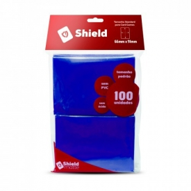SLEEVES CENTRAL SHIELD AZUL 66X91mm C/100