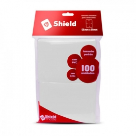 SLEEVES CENTRAL SHIELD BRANCO 66X91mm C/100