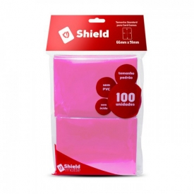 SLEEVES CENTRAL SHIELD ROSA 66X91MM C/100