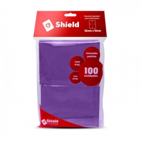 SLEEVES CENTRAL SHIELD ROXO 66X91MM C/100