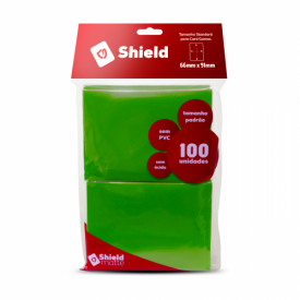 SLEEVES CENTRAL SHIELD VERDE 66X91MM C/100