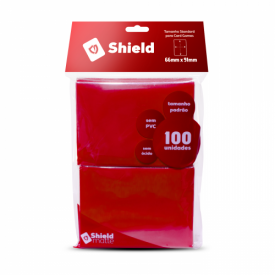 SLEEVES CENTRAL SHIELD VERMELHO 66X91MM C/100