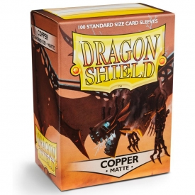 SLEEVES DRAGON SHIELD COBRE MATTE 63X88MM C/100