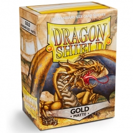 SLEEVES DRAGON SHIELD DOURADO MATTE 63X88MM C/100