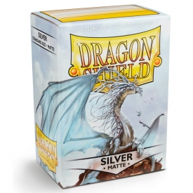 SLEEVES DRAGON SHIELD SILVER MATTE 63X88MM C/100