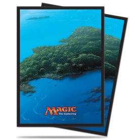 SLEEVES MAGIC ULTRA PRO MANA ILHA 66X91MM C/80