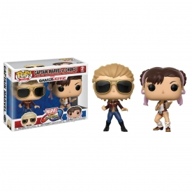 POP! MARVEL VS CAPCOM - CAPTAIN MARVEL VS CHUN-LI