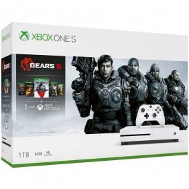 CONSOLE XBOX ONE S 1TB + GEARS 5 STANDARD + 1 MÊS XBOX LIVE GOLD