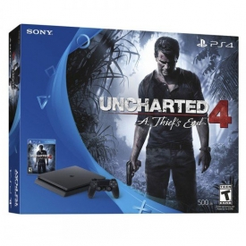 CONSOLE PS4 SLIM 500 GB + 1 JOGO UNCHARTED 4