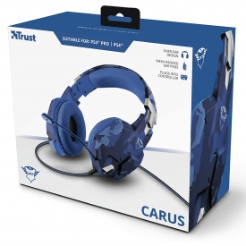 HEADSET GXT 322B CARUS BLUE CAMO PS4 TRUST
