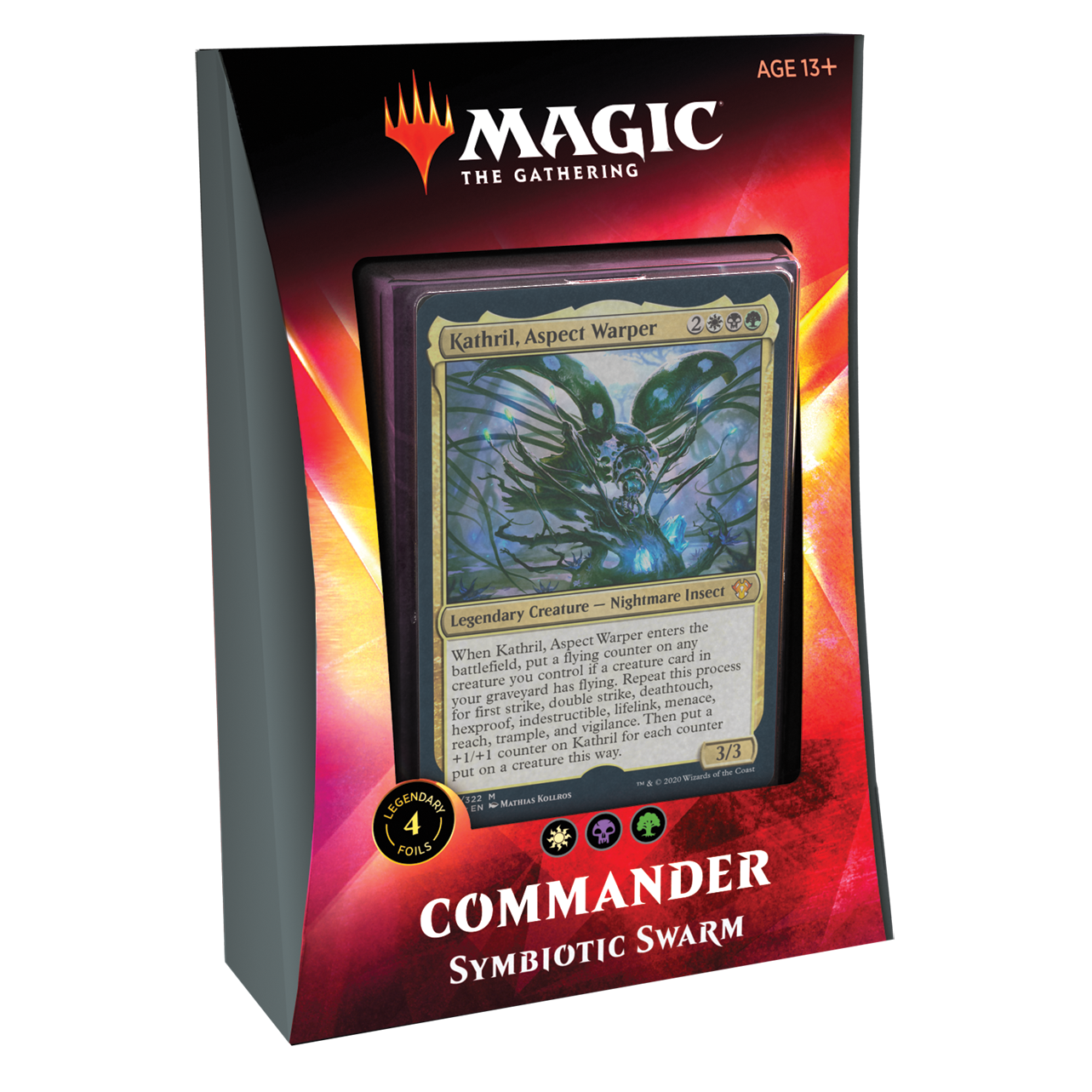 MAGIC THE GATHERING COMMANDER 2020 IKORIA SYMBIOTIC SWARM